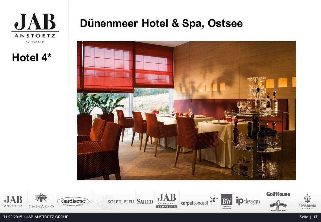 Dünenmeer Hotel & Spa, Ostsee 31.03.2015 | JAB ANSTOETZ GROUP Seite | 17 Alta Moda Fashion Hotel, Budapest Hotel 4*