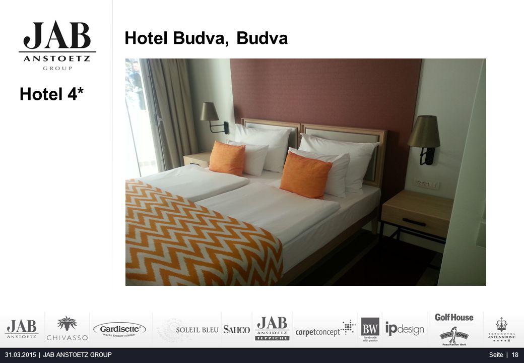 Hotel Budva, Budva 31.03.2015 | JAB ANSTOETZ GROUP Seite | 18 Alta Moda Fashion Hotel, Budapest Hotel 4*