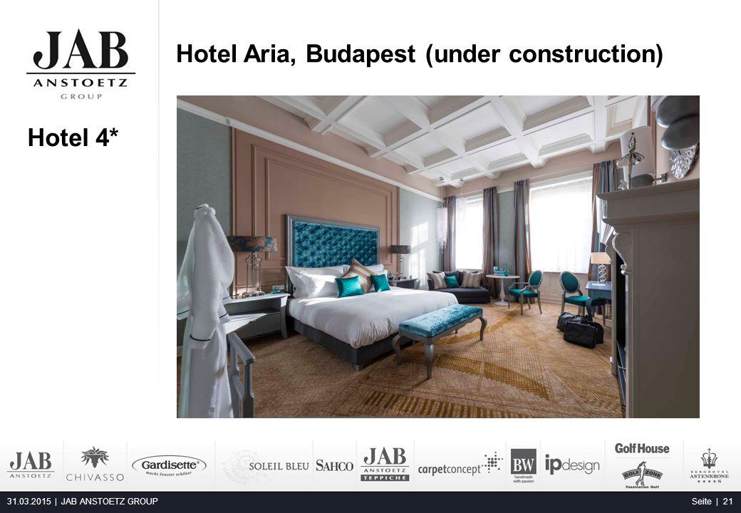 Hotel Aria, Budapest (under construction) 31.03.2015 | JAB ANSTOETZ GROUP Seite | 21 Alta Moda Fashion Hotel, Budapest Hotel 4*