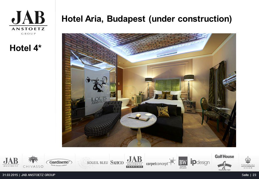 Hotel Aria, Budapest (under construction) 31.03.2015 | JAB ANSTOETZ GROUP Seite | 23 Alta Moda Fashion Hotel, Budapest Hotel 4*