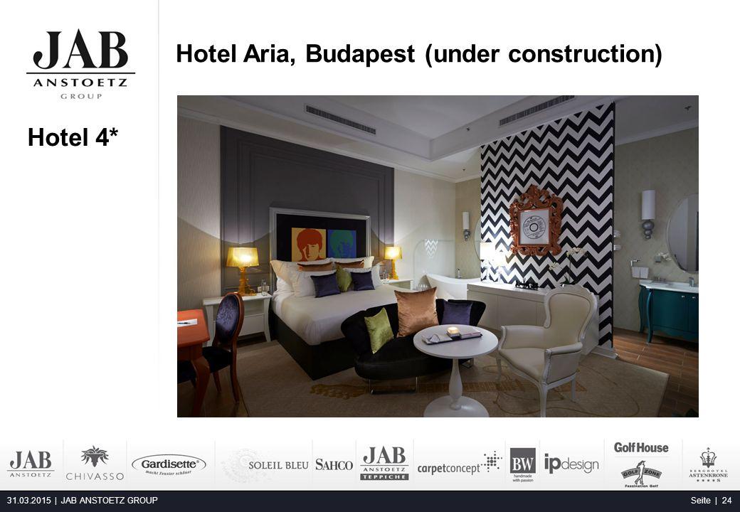 Hotel Aria, Budapest (under construction) 31.03.2015 | JAB ANSTOETZ GROUP Seite | 24 Alta Moda Fashion Hotel, Budapest Hotel 4*