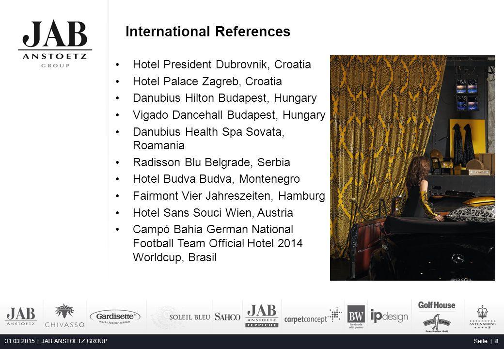 Hotel President Dubrovnik, Croatia Hotel Palace Zagreb, Croatia Danubius Hilton Budapest, Hungary Vigado Dancehall Budapest, Hungary Danubius Health S