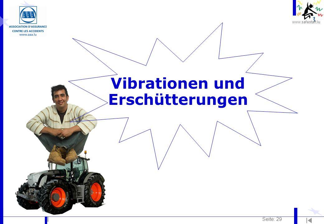 www.safestart.lu Seite: 29 Vibrationen und Erschütterungen