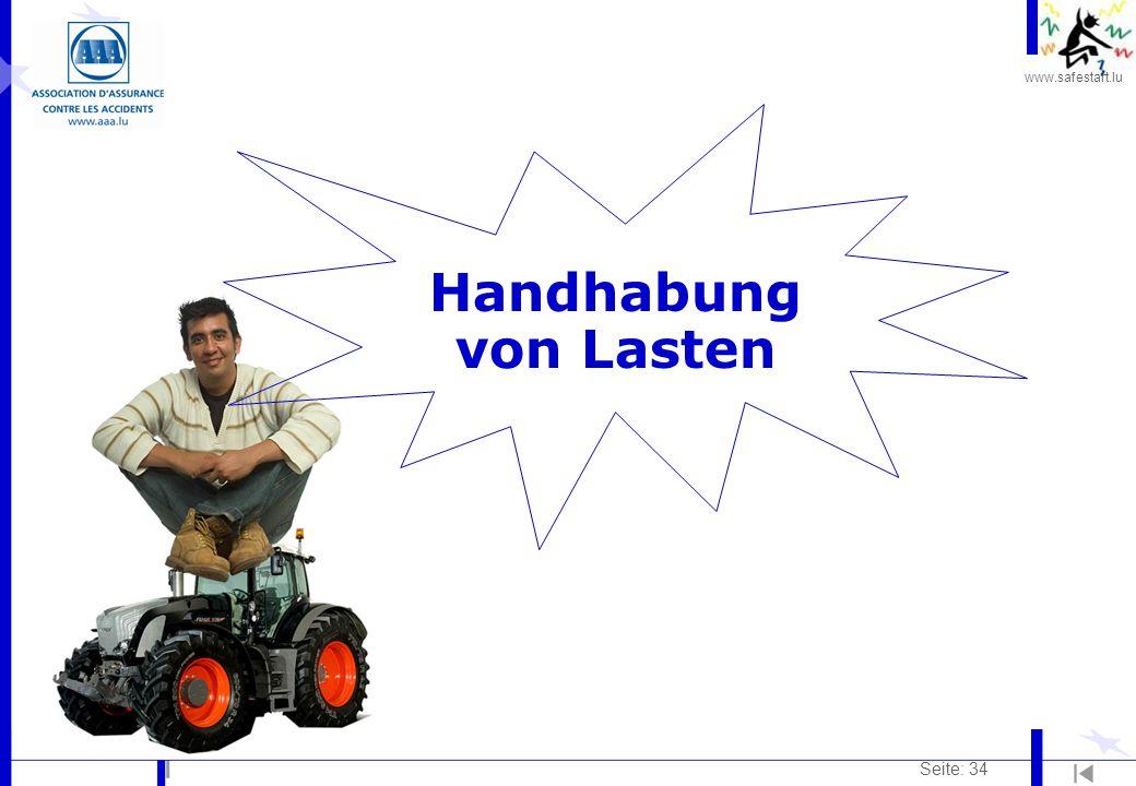 www.safestart.lu Seite: 34 Handhabung von Lasten