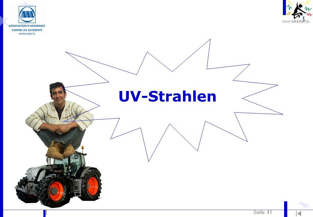 www.safestart.lu Seite: 41 UV-Strahlen