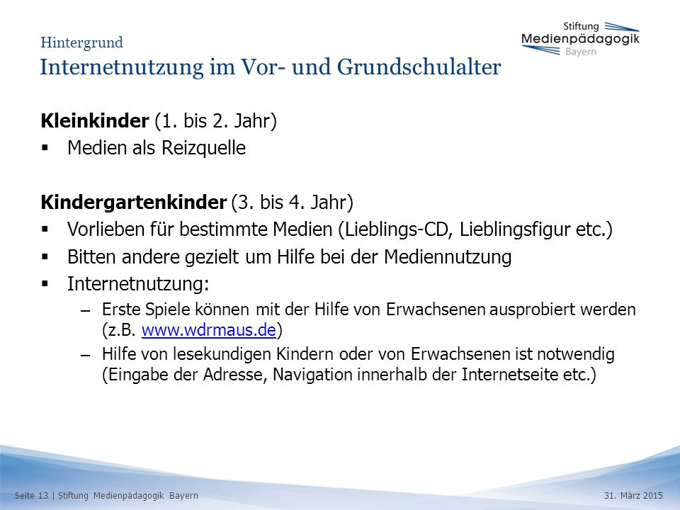 Seite 13 | Stiftung Medienpädagogik Bayern31.