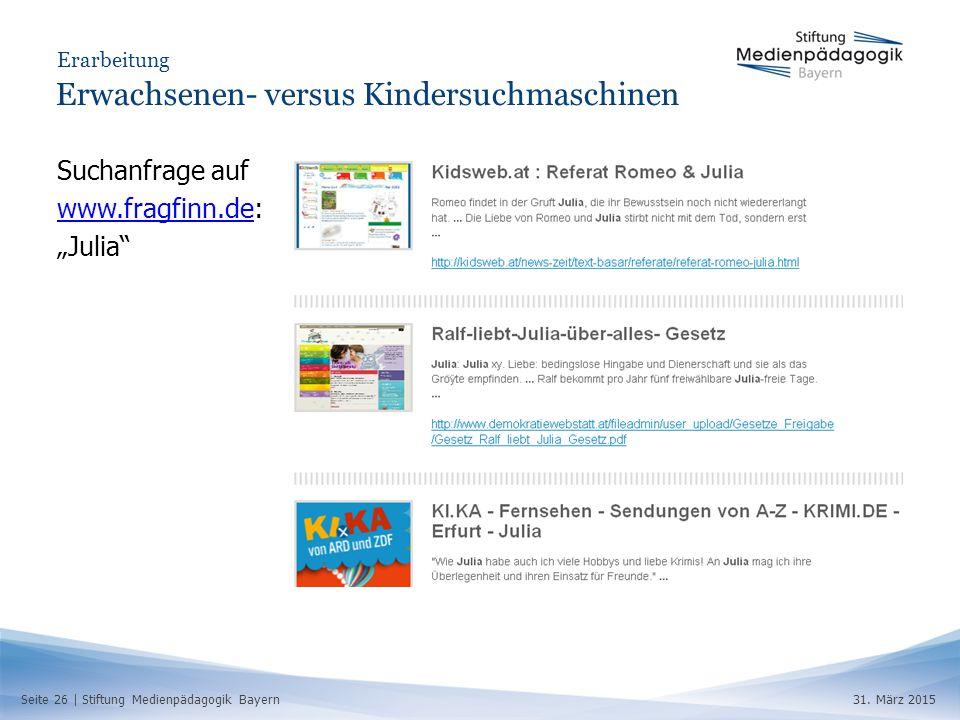 Seite 26 | Stiftung Medienpädagogik Bayern31.
