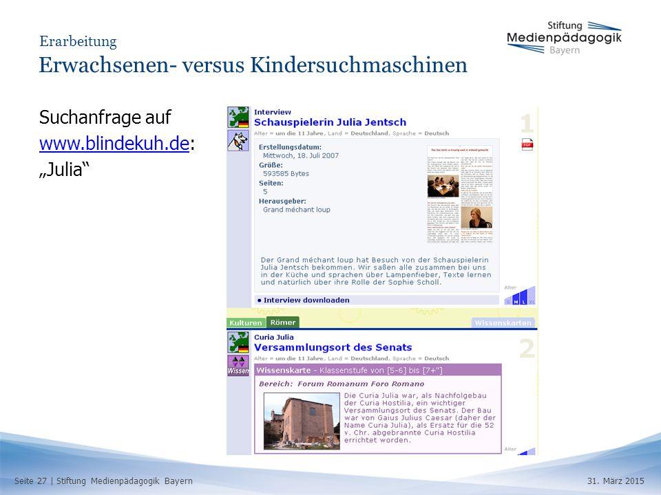Seite 27 | Stiftung Medienpädagogik Bayern31.