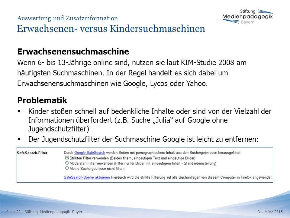 Seite 28 | Stiftung Medienpädagogik Bayern31.