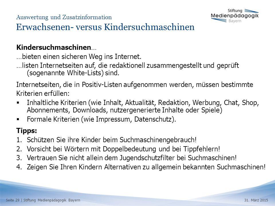 Seite 29 | Stiftung Medienpädagogik Bayern31.