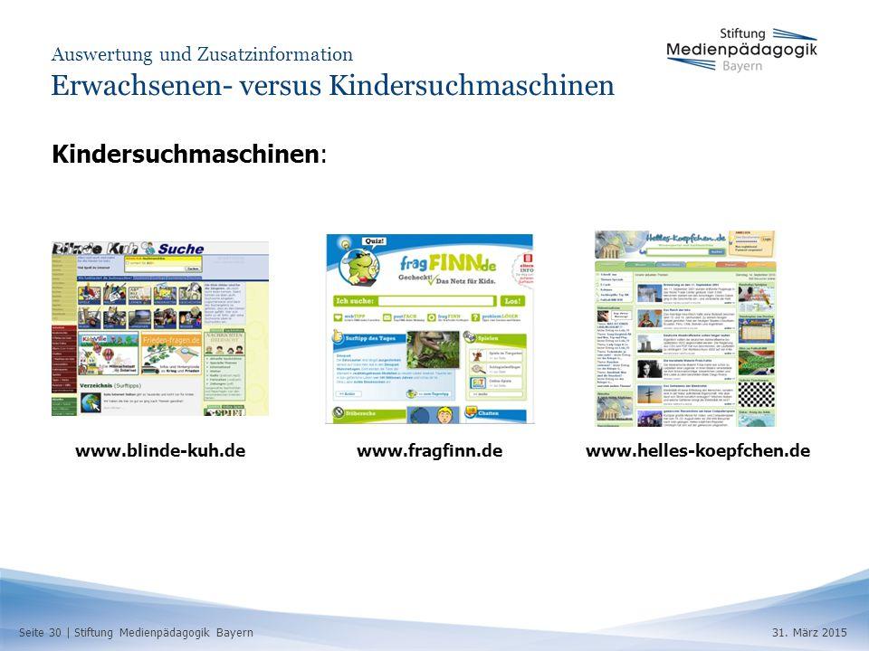 Seite 30 | Stiftung Medienpädagogik Bayern31.