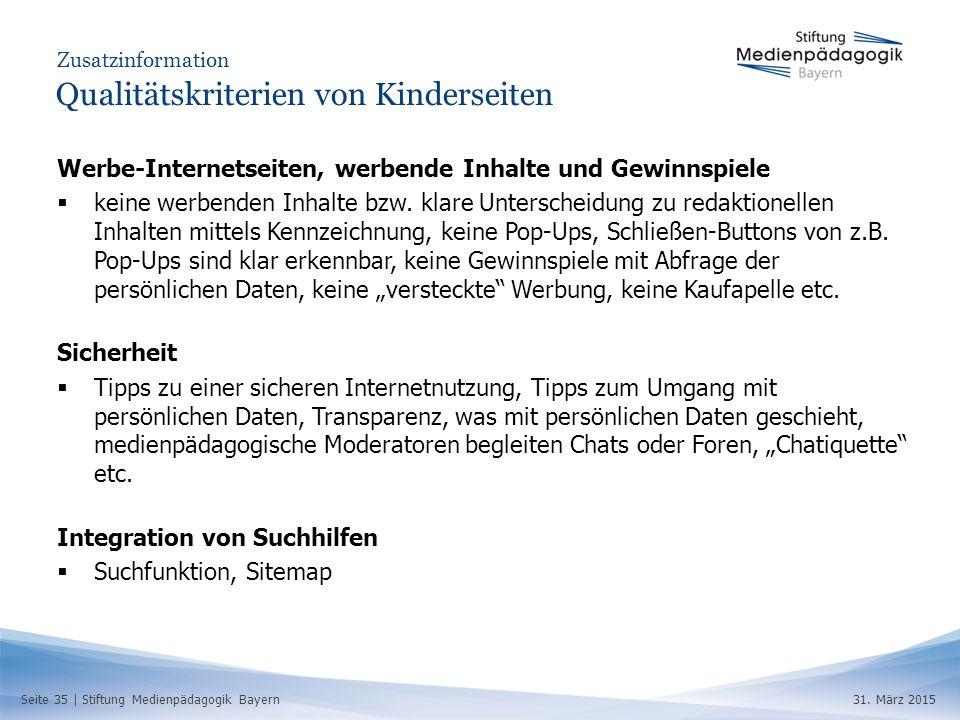 Seite 35 | Stiftung Medienpädagogik Bayern31.