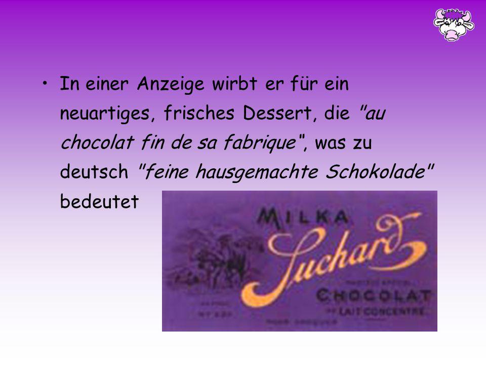 Am 9. Oktober 1797 wird Philippe Suchard im Schweizer Boudry geboren 1814 Lehre als Zuckerbäcker 1824 Amerika 17. November 1825 Eröffnung seiner eigen