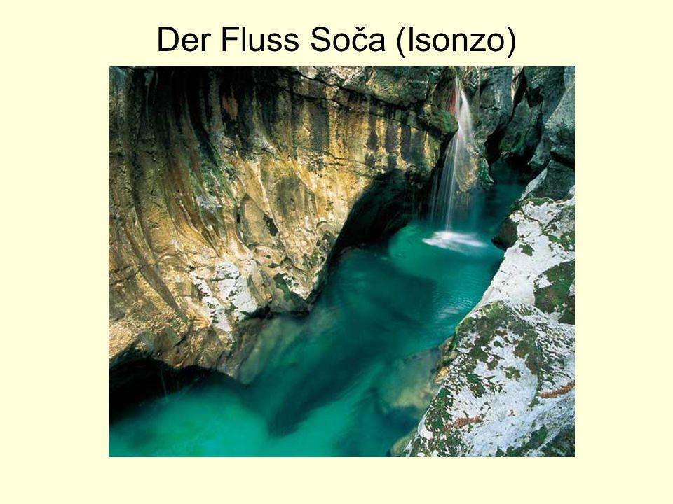 Der Fluss Soča (Isonzo)