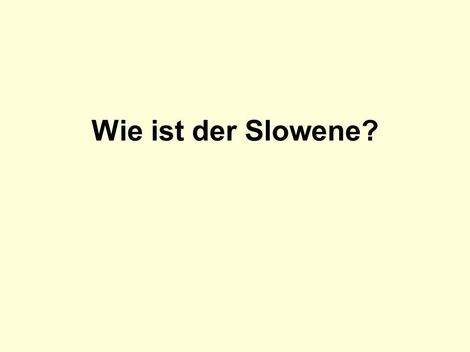 Wie ist der Slowene?