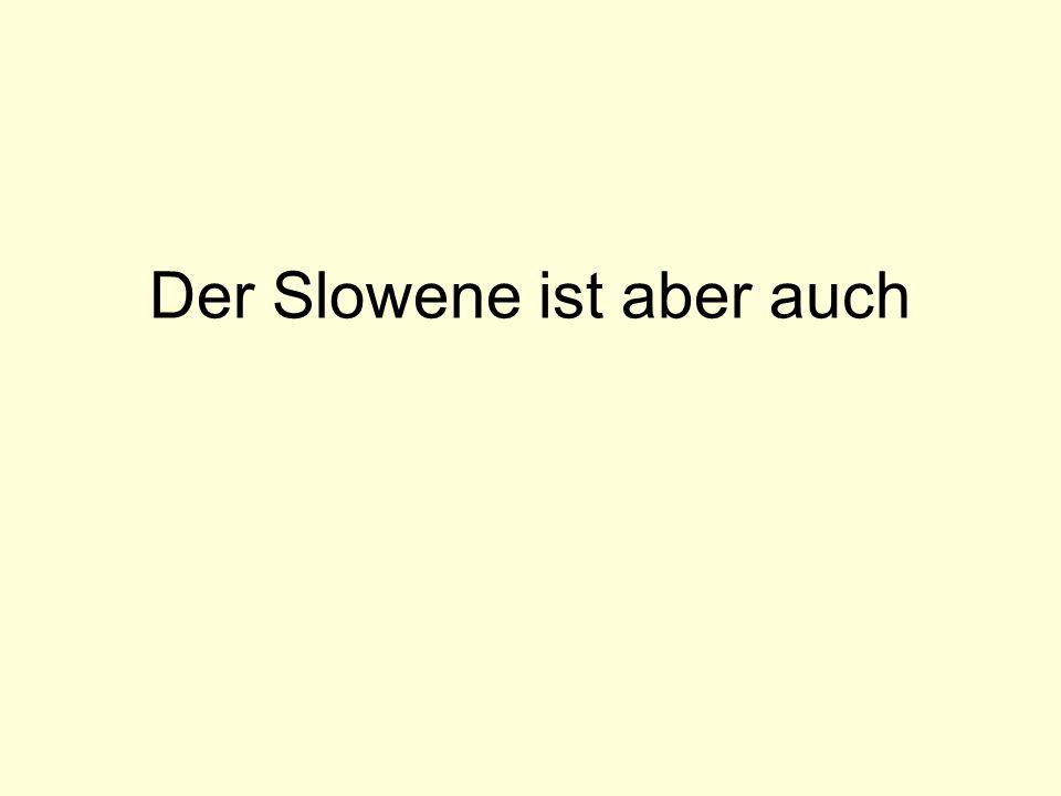 Der Slowene ist aber auch