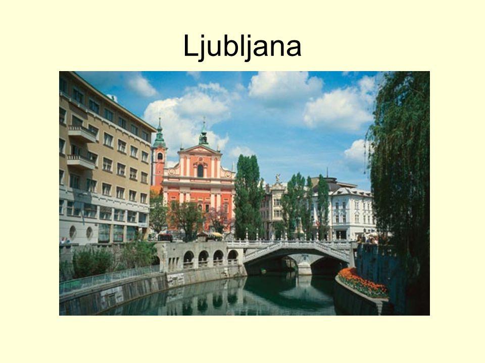 am Fluss Ljubljanica
