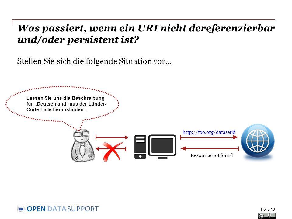 Was passiert, wenn ein URI nicht dereferenzierbar und/oder persistent ist.