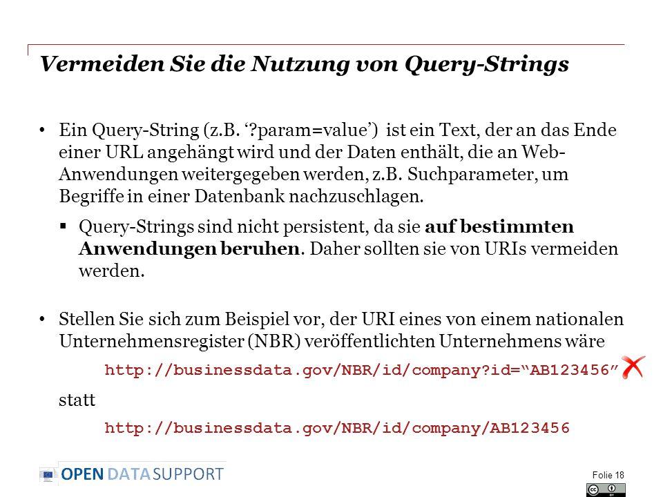Vermeiden Sie die Nutzung von Query-Strings Ein Query-String (z.B.