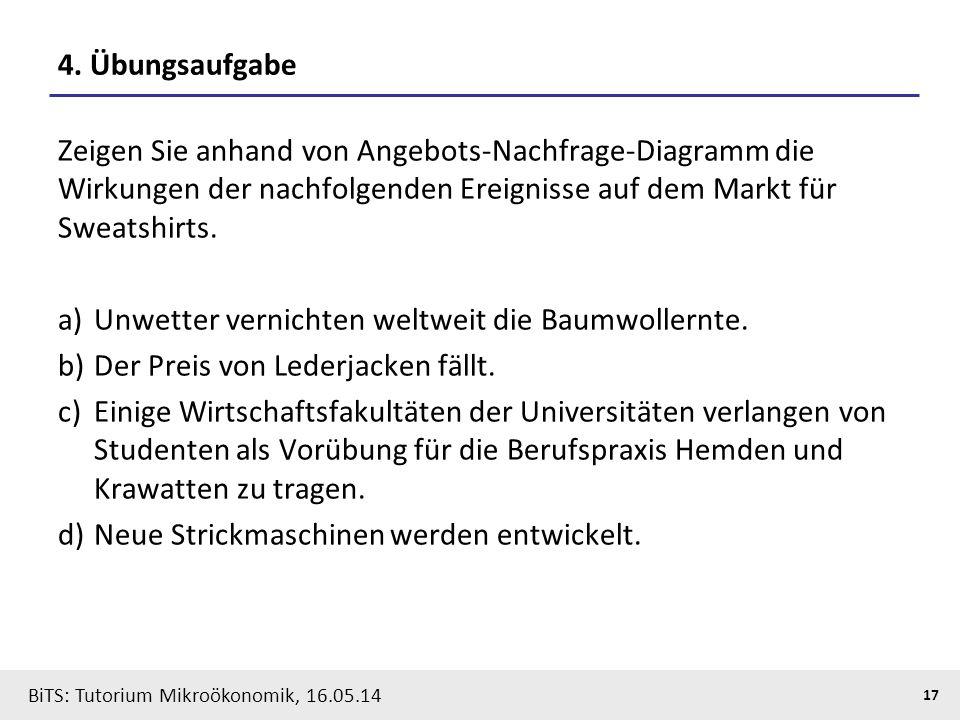 17 BiTS: Tutorium Mikroökonomik, 16.05.14 4.