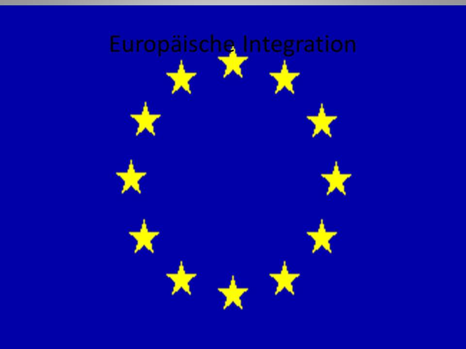 1 Europäische Integration