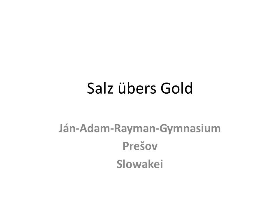 Salz übers Gold Ján-Adam-Rayman-Gymnasium Prešov Slowakei