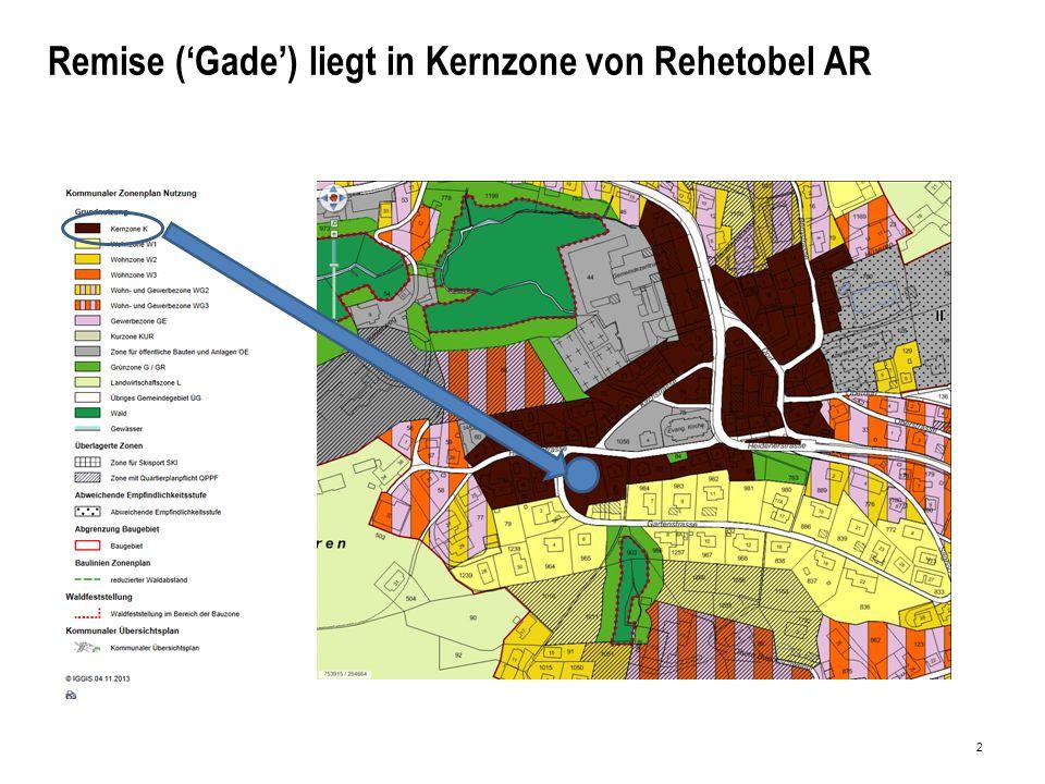 2 Remise ('Gade') liegt in Kernzone von Rehetobel AR