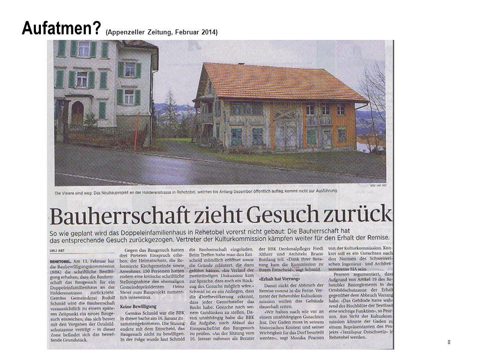 8 Aufatmen (Appenzeller Zeitung, Februar 2014)
