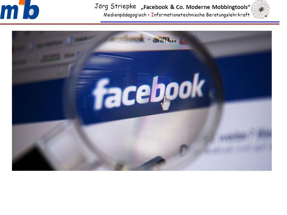 "Medienpädagogisch – Informationstechnische Beratungslehrkraft Jörg Striepke ""Facebook & Co. Moderne Mobbingtools"""