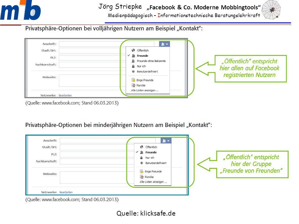 "Medienpädagogisch – Informationstechnische Beratungslehrkraft Jörg Striepke ""Facebook & Co."