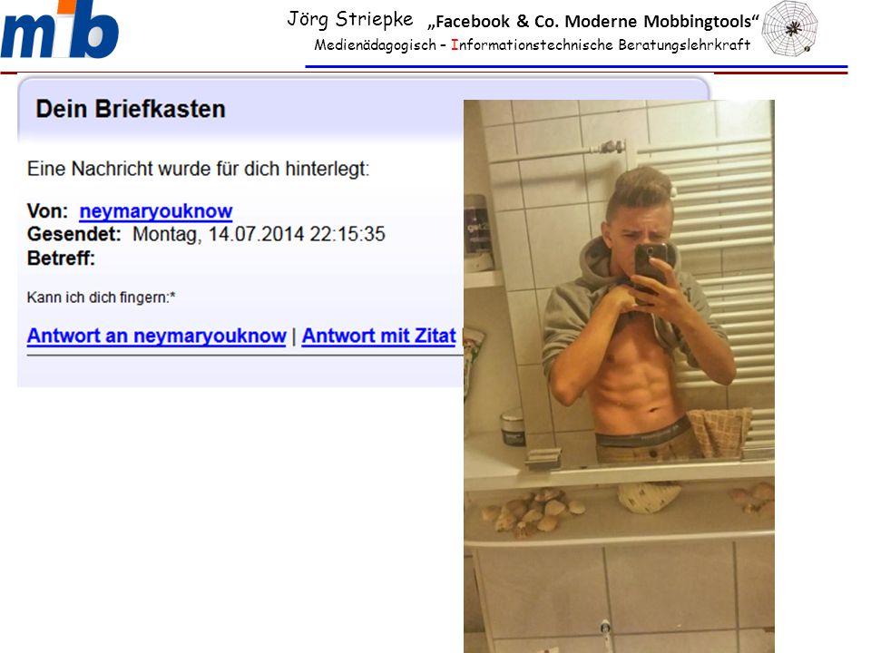 """Medienädagogisch – Informationstechnische Beratungslehrkraft Jörg Striepke """"Facebook & Co. Moderne Mobbingtools"""""""