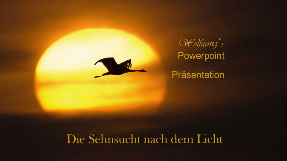 Die Sehnsucht nach dem Licht Wolfgang´s Powerpoint Präsentation