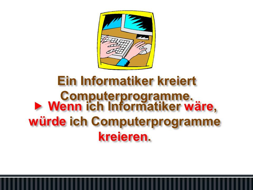 Ein Informatiker kreiert Computerprogramme.