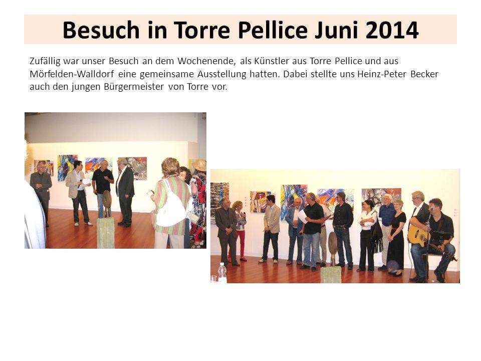 Besuch in Torre Pellice Juni 2014 Zufällig war unser Besuch an dem Wochenende, als Künstler aus Torre Pellice und aus Mörfelden-Walldorf eine gemeinsa