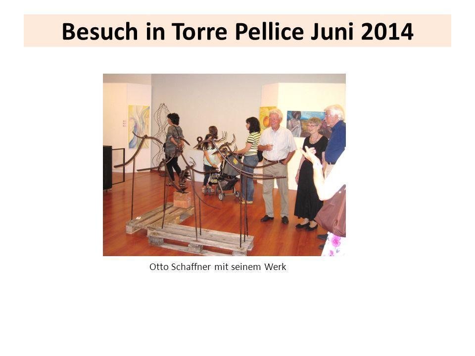 Besuch in Torre Pellice Juni 2014 Otto Schaffner mit seinem Werk