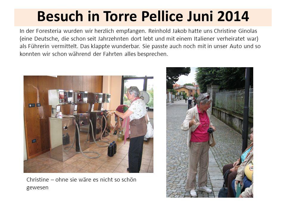 Besuch in Torre Pellice Juni 2014 Christine – ohne sie wäre es nicht so schön gewesen In der Foresteria wurden wir herzlich empfangen. Reinhold Jakob