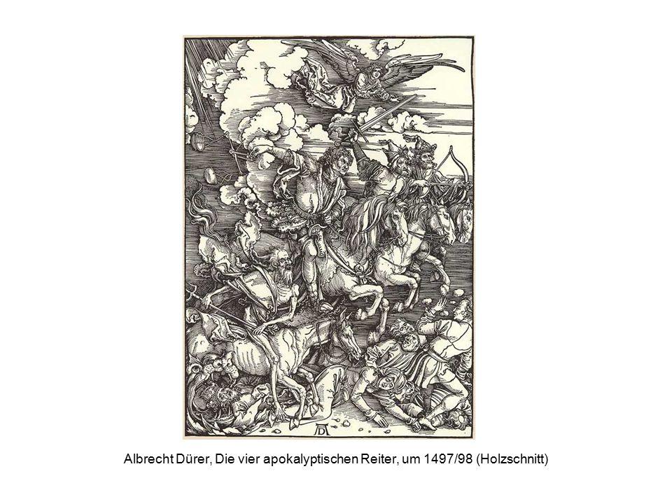 Albrecht Dürer, Die vier apokalyptischen Reiter, um 1497/98 (Holzschnitt)