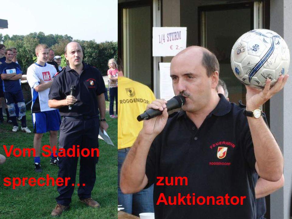Vom Stadion sprecher… zum Auktionator