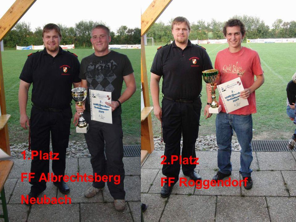 1.Platz FF Albrechtsberg Neubach 2.Platz FF Roggendorf