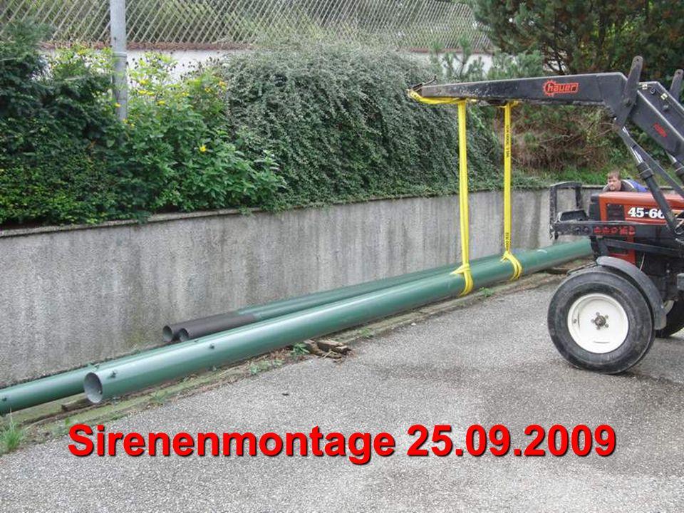 Sirenenmontage 25.09.2009
