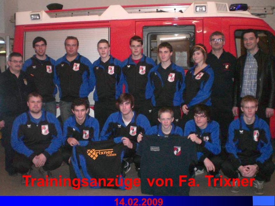 Trainingsanzüge von Fa. Trixner 14.02.2009