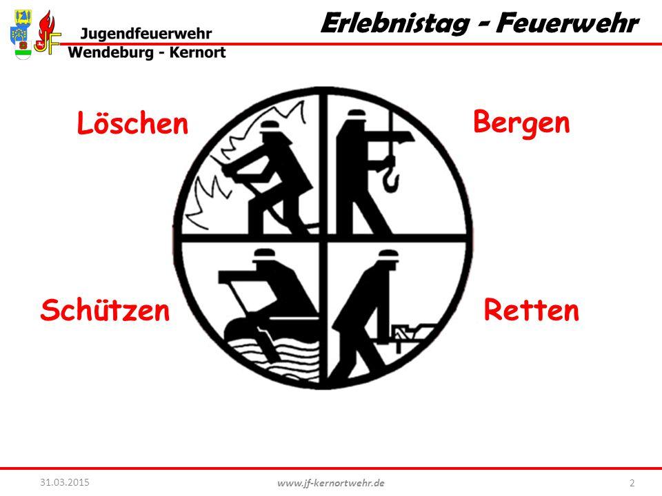 www.jf-kernortwehr.de 2 31.03.2015 Erlebnistag - Feuerwehr Löschen RettenSchützen Bergen