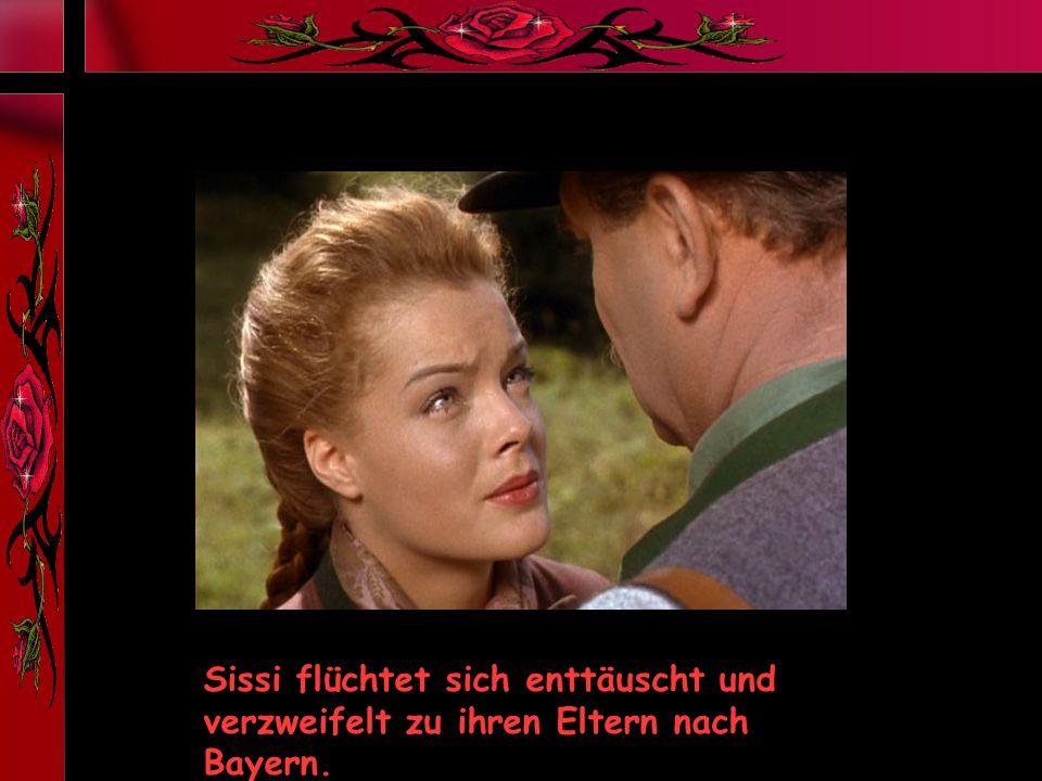 Sissi flüchtet sich enttäuscht und verzweifelt zu ihren Eltern nach Bayern.