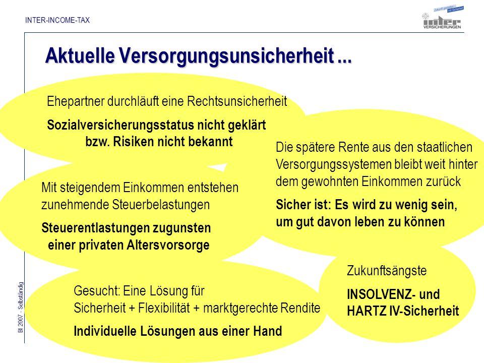 Bl 2007 - Selbständig INTER-INCOME-TAX Staatlich geförderte Basisversorgung...
