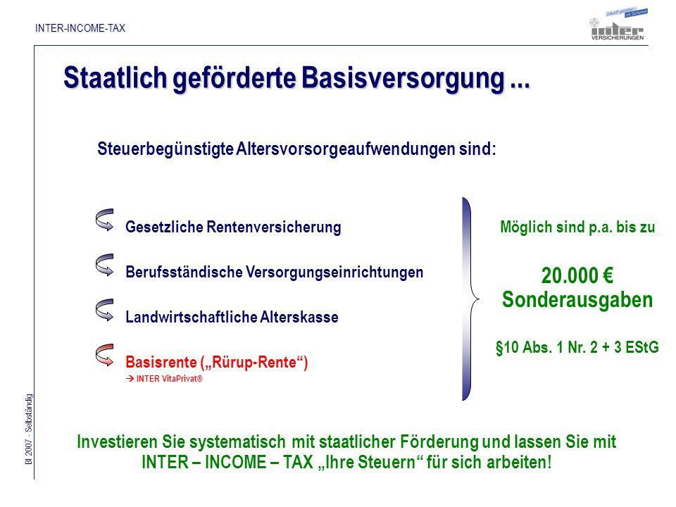 Bl 2007 - Selbständig INTER-INCOME-TAX Funktionsprinzip...