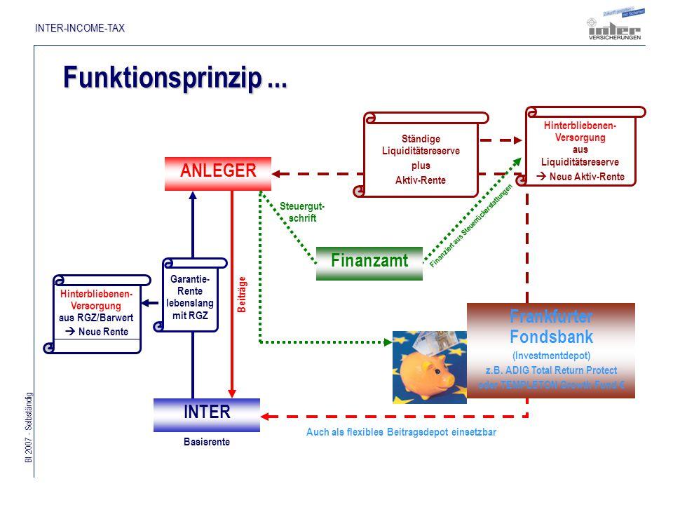 Bl 2007 - Selbständig INTER-INCOME-TAX Finanziert aus Steuerrückerstattungen Funktionsprinzip...