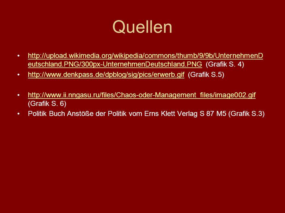 Quellen http://upload.wikimedia.org/wikipedia/commons/thumb/9/9b/UnternehmenD eutschland.PNG/300px-UnternehmenDeutschland.PNG (Grafik S. 4)http://uplo