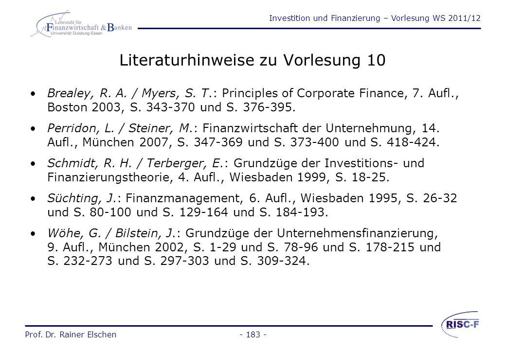 Investition und Finanzierung – Vorlesung WS 2011/12 Prof. Dr. Rainer Elschen Formen der Beteiligungsfinanzierung (2) Eine Aktie ist ein Wertpapier und