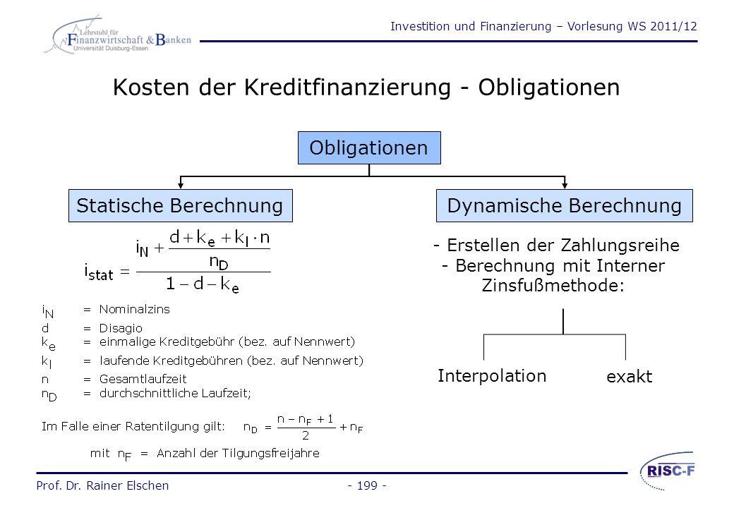 Investition und Finanzierung – Vorlesung WS 2011/12 Prof. Dr. Rainer Elschen Realsicherheiten (2) Hypothek: Streng akzessorischer Charakter und ist vo