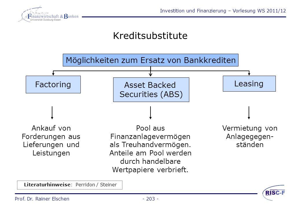"""Investition und Finanzierung – Vorlesung WS 2011/12 Prof. Dr. Rainer Elschen- 202 - Kosten kurzfristiger Finanzierung (2) """"Negative"""" Kosten (Erträge)"""
